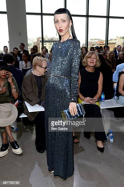 Michelle Harper attends the Jason Wu fashion show during Spring 2016 New York Fashion Week at Spring Studios on September 11 2015 in New York City