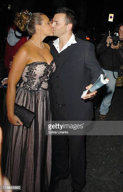 Michelle Heaton and Andy Scott Lee during 2007 British Academy Television Awards Reception and Party Departures at Natural History Museum in London...