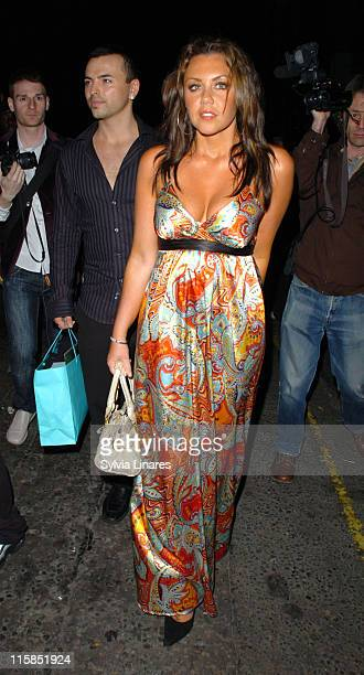 Michelle Heaton and Andy Scott Lee during Celebrity Sightings at Crystal Nightclub in London in London Great Britain