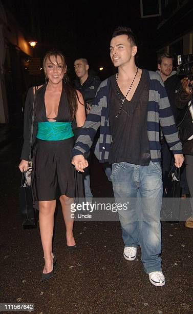 Michelle Heaton and Andy Scott Lee during Maxim Online Party November 2 2005 at Tantra in London Great Britain