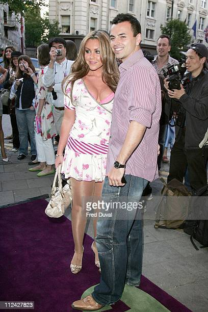 Michelle Heaton and Andy Scott Lee during The Evite Night At The Theatre 'Lord Of The Rings The Musical' Outside Arrivals at Theatre Royal in London...