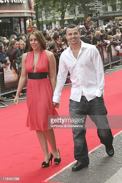 Michelle Heaton and Andy Scott Lee during 'The Lake House' London Premiere Outside Arrivals at Vue West End in London Great Britain