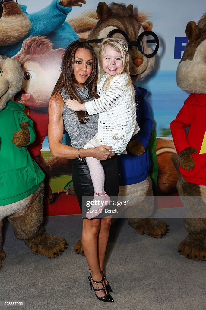 <a gi-track='captionPersonalityLinkClicked' href=/galleries/search?phrase=Michelle+Heaton&family=editorial&specificpeople=202177 ng-click='$event.stopPropagation()'>Michelle Heaton</a> and daughter attend a Gala Screening of 'Alvin & The Chipmunks: The Road Chip' at Vue West End on February 7, 2016 in London, England.