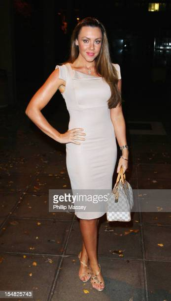 Michelle Heaton appears on the Late Late Show on October 26 2012 in Dublin Ireland