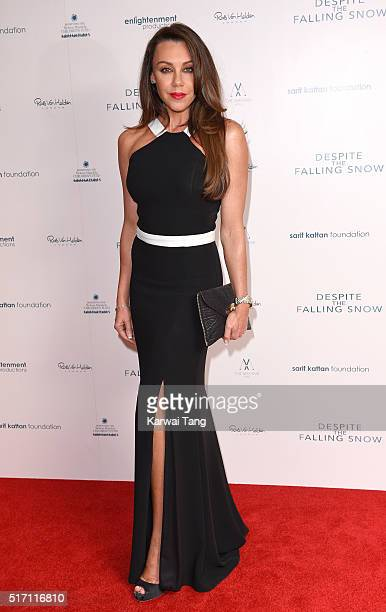 Michelle Heaton arrives for the gala screening of 'Despite The Falling Snow' on March 23 2016 in London United Kingdom