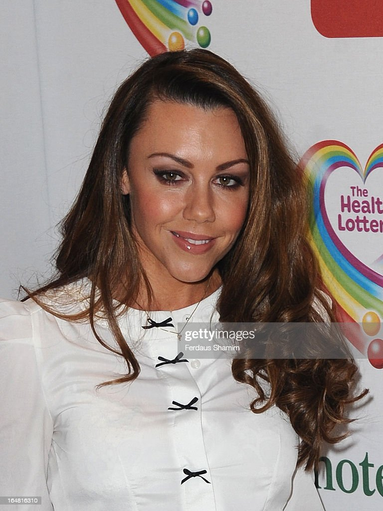 <a gi-track='captionPersonalityLinkClicked' href=/galleries/search?phrase=Michelle+Heaton&family=editorial&specificpeople=202177 ng-click='$event.stopPropagation()'>Michelle Heaton</a> attends a fundraising event in aid of The Health Lottery hosted by Simon Cowell at Claridges Hotel on March 28, 2013 in London, England.