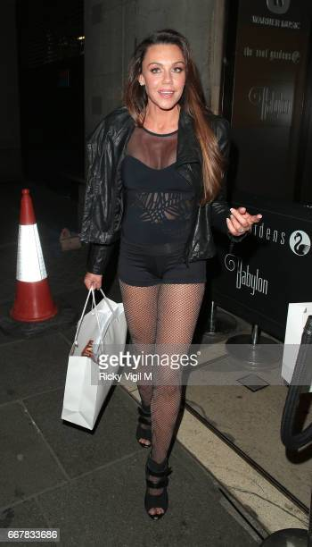Michelle Heaton attends James Ingham's JogOn to Cancer part 5 at Kensington Roof Gardens on April 12 2017 in London England