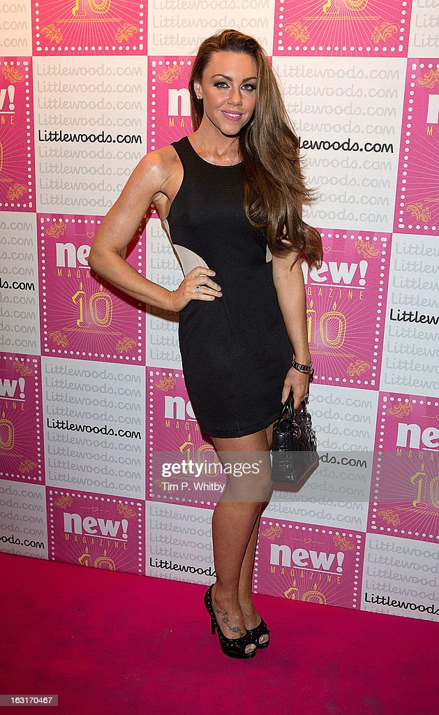 Michelle Heaton attends New Magazine Celebrates 10 years in print at Gilgamesh on March 5, 2013 in London, England.