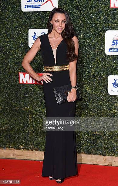 Michelle Heaton attends the Daily Mirror Pride Of Sport Awards at Grosvenor House on November 25 2015 in London United Kingdom