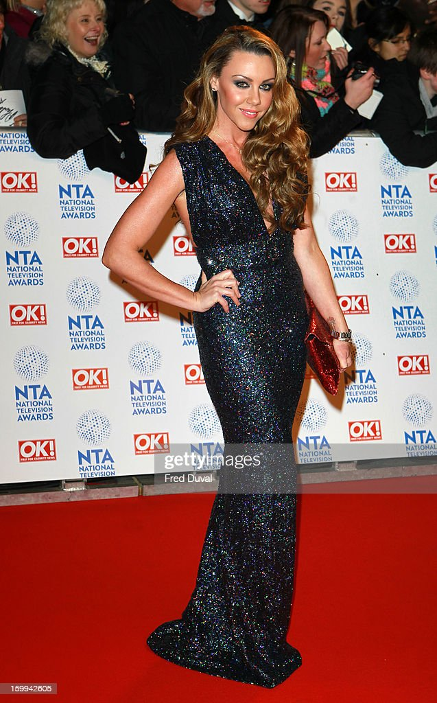 Michelle Heaton attends the National Television Awards at 02 Arena on January 23, 2013 in London, England.