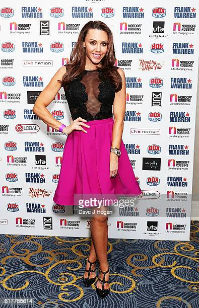 Michelle Heaton attends the Nordoff Robbins Boxing Dinner at the London Hilton Park Lane on October 24 2016 in London England
