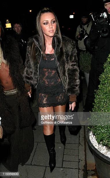 Michelle Heaton during Adele Silva's Birthday Party at the Embassy Club at Embassy Club in London England Great Britain
