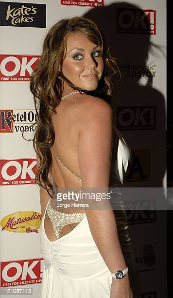 Michelle Heaton during Ok Christmas Party Outside Arrivals in London Great Britain