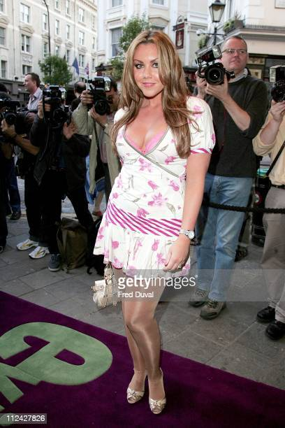Michelle Heaton during The Evite Night At The Theatre 'Lord Of The Rings The Musical' Outside Arrivals at Theatre Royal in London Great Britain