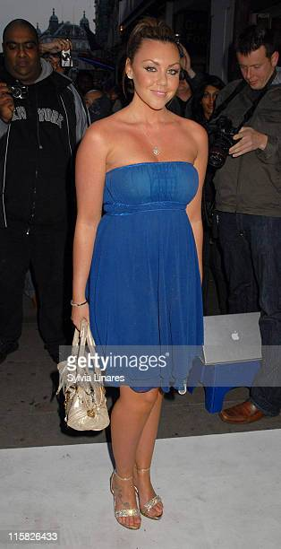 Michelle Heaton during The Perfume Shop/LK High Street Fashion Awards Outside Arrivals at Cafe de Paris in London United Kingdom