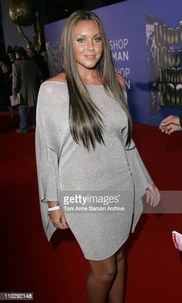Michelle Heaton during World Music Awards 2006 Red Carpet Inside Arrivals at Earls Court in London Great Britain