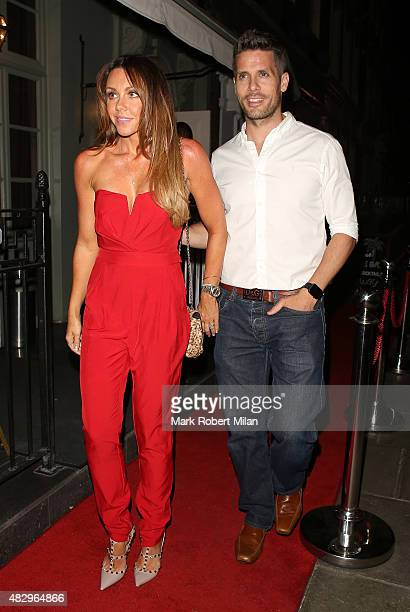 Michelle Heaton outside the Ok Magazine summer party on August 4 2015 in London England