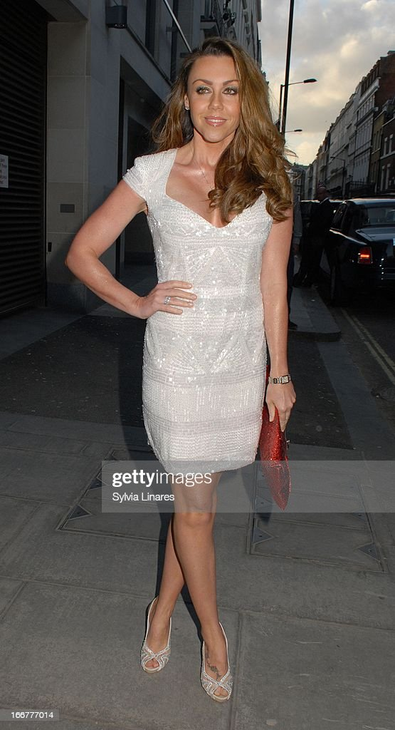 Michelle Heaton sighting at the OK! Magazine 20th Anniversary Party held at Clarendon Fine Art on April 16, 2013 in London, England.