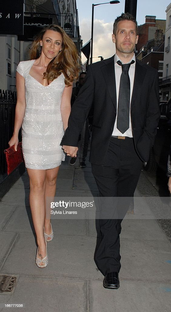 Michelle Heaton (L) sighting at the OK! Magazine 20th Anniversary Party held at Clarendon Fine Art on April 16, 2013 in London, England.