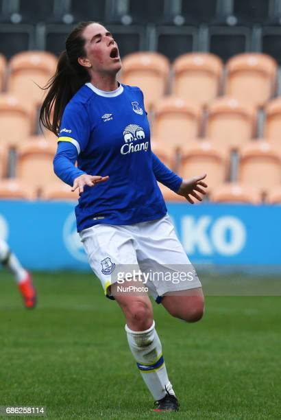 Michelle Hinnigan of Everton Ladies during Women's Super League 2 Spring Series match between London Bees against Everton Ladies at The Hive Barnet...