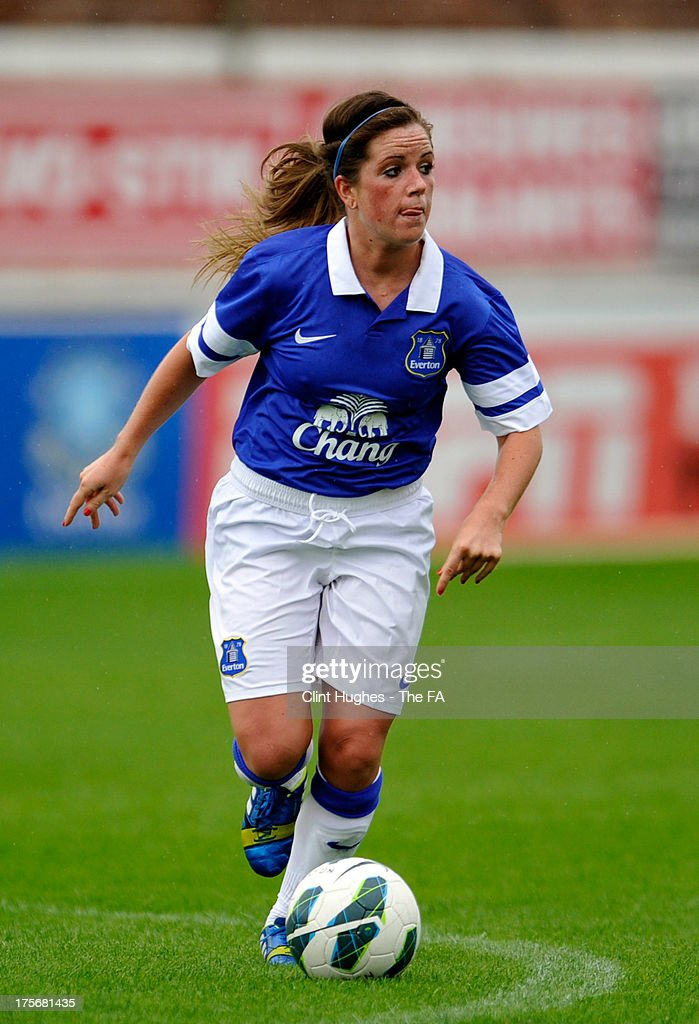 Michelle Hinnigan of Everton Ladies FC during the FA WSL match between Everton Ladies FC and Bristol Academy Women's FC at the Arriva Stadium on July 4, 2013 in Liverpool, England