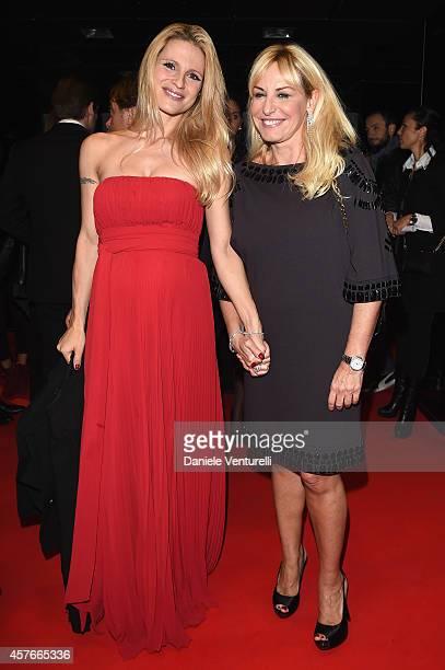 Michelle Hunziker and Antonella Clerici attends 'Un'Altra Storia' Charity Event Benefiting Doppia Difesa Arrivals during the 9th Rome Film Festival...