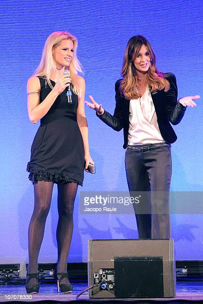 Michelle Hunziker and Silvia Toffanin attend 'Donne X Le Donne' A Charity Event To Celebrate The International Day For The Elimination Of Violence...