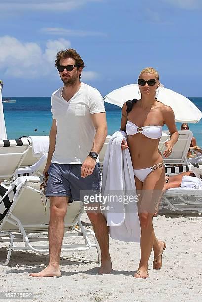 Michelle Hunziker and Tomaso Trussardi are seen on June 02 2012 in Miami Florida