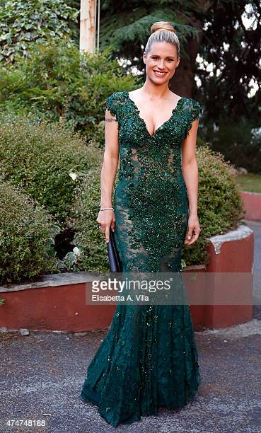 Michelle Hunziker arrives at PREMIO TV 2015 Awards at RAI Dear Studios on May 25 2015 in Rome Italy