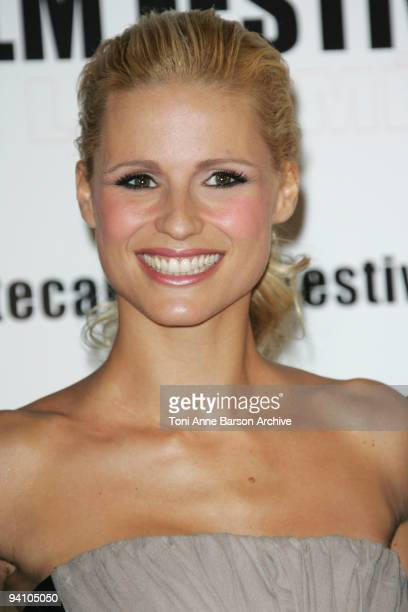 Michelle Hunziker arrives at the Monte Carlo Comedy Film Festival Gala Awards Ceremony at the Grimaldi Forum on November 28 2009 in Monte Carlo Monaco