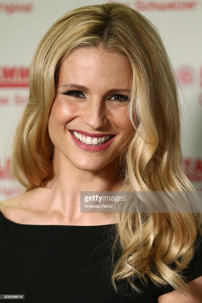 Michelle Hunziker attends a photocall to promote original swiss cheese Schweizer Emmentaler AOP on December 9 2015 in Cologne Germany
