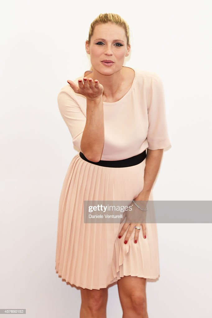 Michelle Hunziker attends 'Doppia Difesa' Photocall during the 9th Rome Film Festival at Auditorium Parco Della Musica on October 22 2014 in Rome...