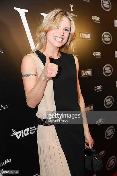 Michelle Hunziker attends the Vienna Awards 2014 at MAK Museum fuer angewandte Kunst on April 24 2014 in Vienna Austria