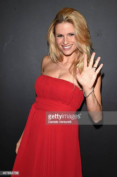 Michelle Hunziker attends 'Un'Altra Storia' Charity Event Benefiting Doppia Difesa Arrivals during the 9th Rome Film Festival at Capitol Club on...