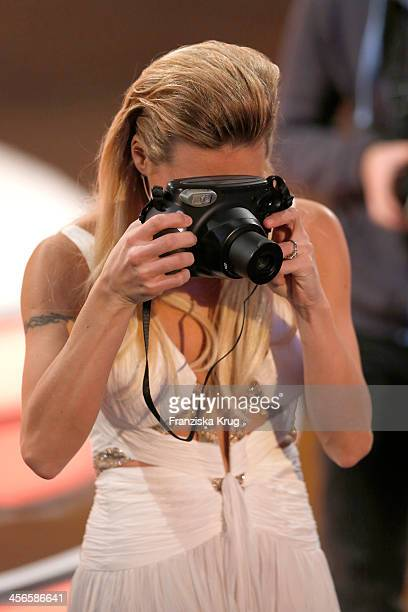 Michelle Hunziker attends Wetten dass from Augsburg on December 14 2013 in Augsburg Germany