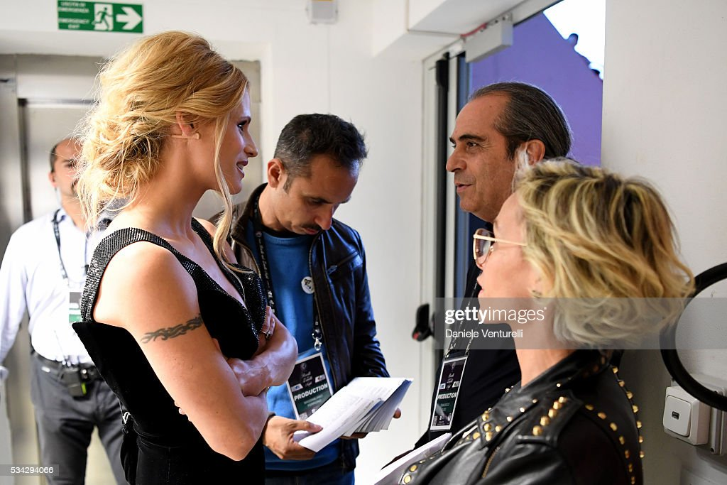 <a gi-track='captionPersonalityLinkClicked' href=/galleries/search?phrase=Michelle+Hunziker&family=editorial&specificpeople=577804 ng-click='$event.stopPropagation()'>Michelle Hunziker</a> is seen backstage ahead of Bocelli and Zanetti Night on May 25, 2016 in Rho, Italy.