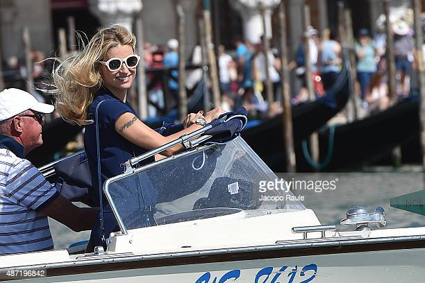 Michelle Hunziker is seen during the 72nd Venice Film Festival on September 7 2015 in Venice Italy