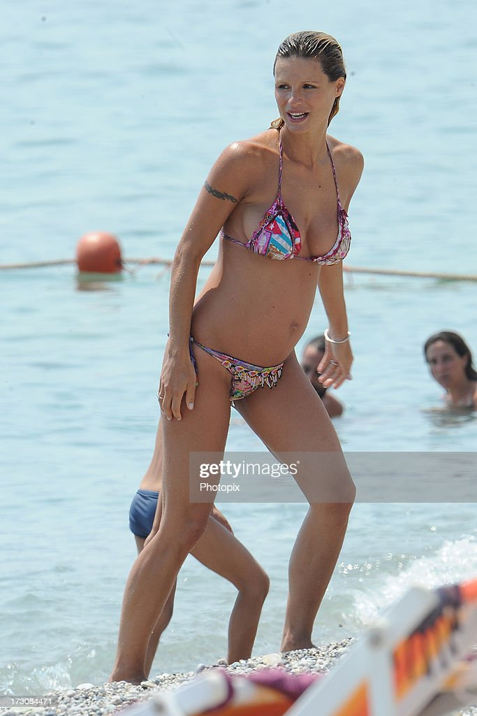Michelle Hunziker is seen on July 6, 2013 in Varigotti, Italy.