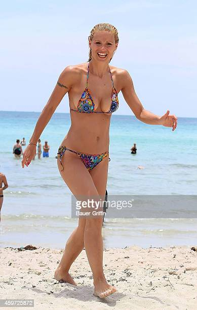 Michelle Hunziker is seen on June 03 2012 in Miami Florida