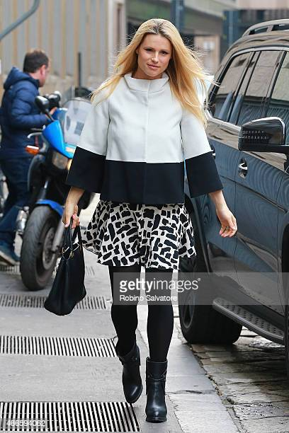 Michelle Hunziker sighted on March 17 2015 in Milan Italy