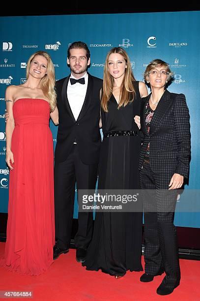 Michelle Hunziker Tomaso Trussardi Gaia Trussardi and Giulia Bongiorno attend 'Un'Altra Storia' Charity Event Benefiting Doppia Difesa Arrivals...