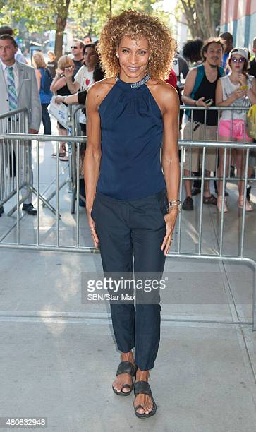 Michelle Hurd is seen on July 13 2015 in New York City