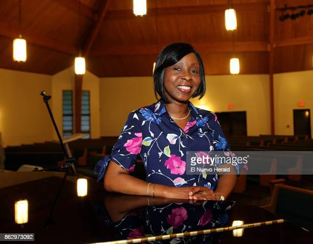 Michelle James who is fighting breast cancer at The Metropolitan Baptist Church where she sings on October 12 in Hollywood Fla