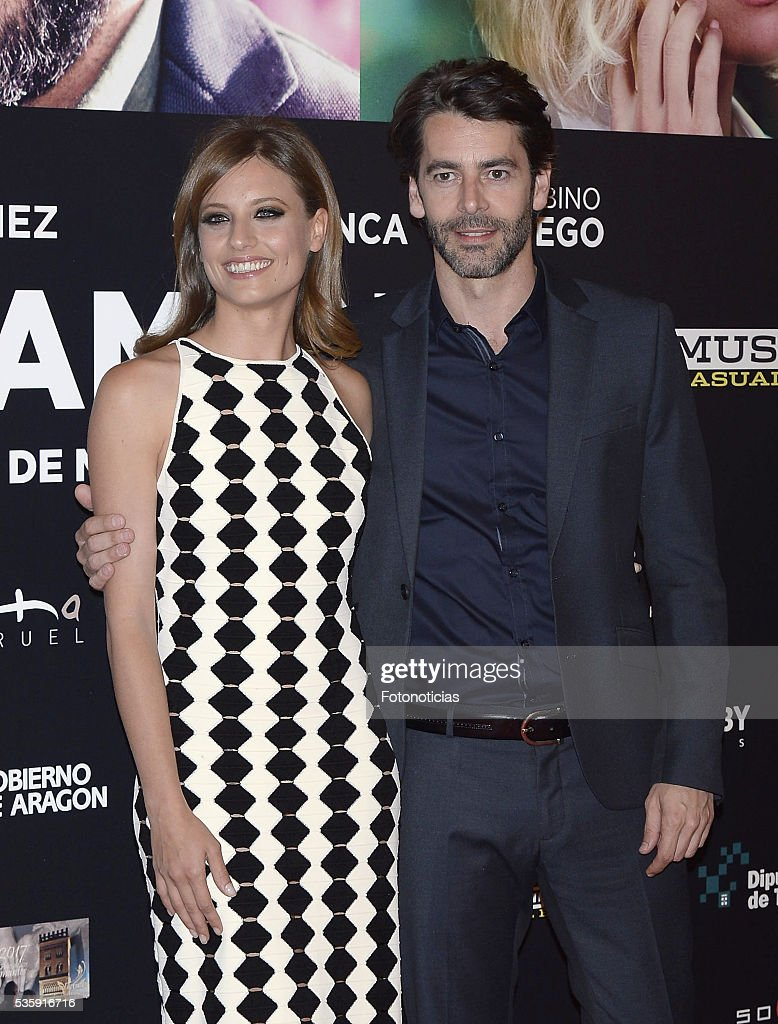 Michelle Jenner and Eduardo Noriega attends the 'Nuestros Amantes' premiere at Palafox cinema on May 30, 2016 in Madrid, Spain.