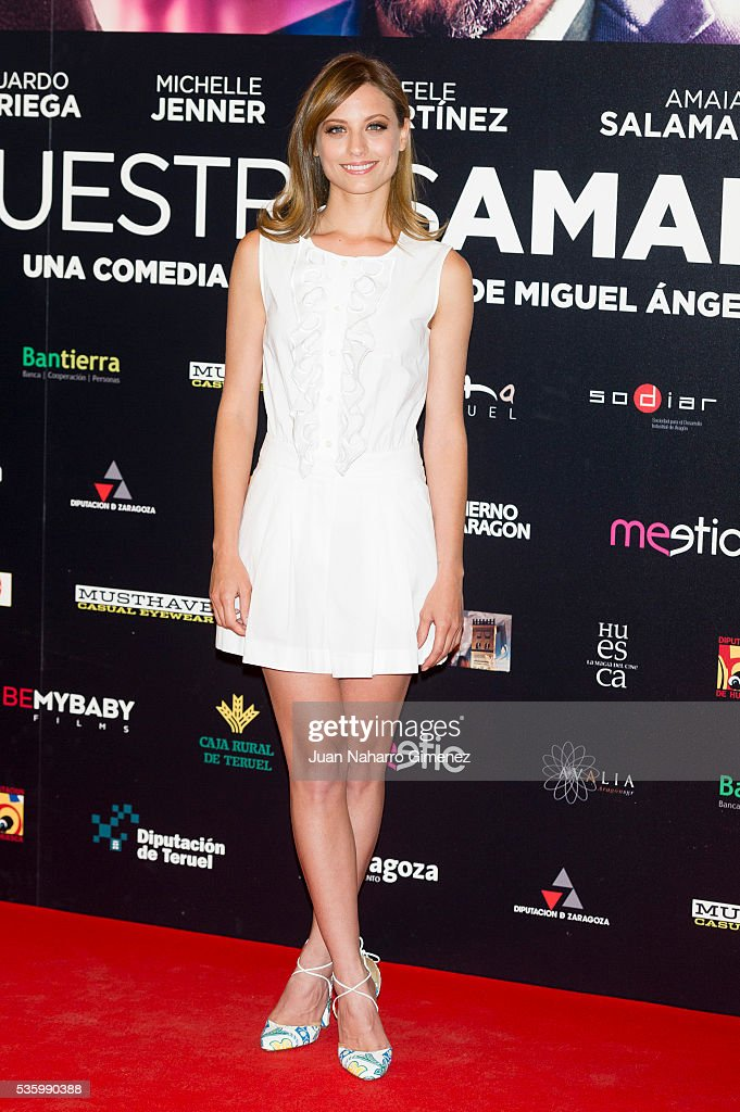 <a gi-track='captionPersonalityLinkClicked' href=/galleries/search?phrase=Michelle+Jenner&family=editorial&specificpeople=4388105 ng-click='$event.stopPropagation()'>Michelle Jenner</a> attends 'Nuestros Amantes' photocall at Palafox Cinema on May 31, 2016 in Madrid, Spain.