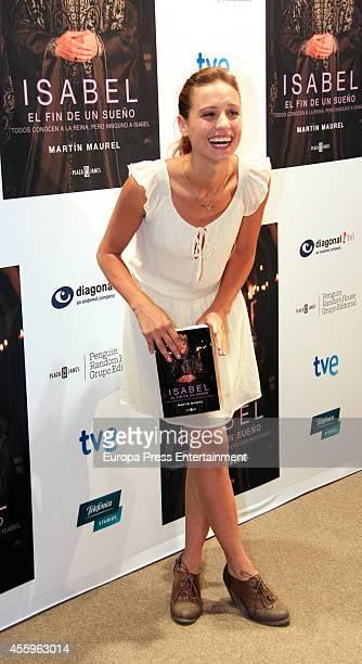 Michelle Jenner attends the book presentation of 'Isabel El Fin de Un Sueno' on September 22 2014 in San Sebastian Spain