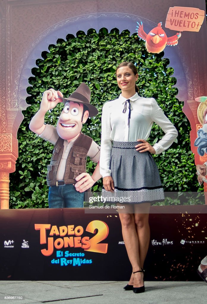 Michelle Jenner during 'Tadeo Jones 2. El Secreto Del Rey Midas' Madrid Photocall on August 22, 2017 in Madrid, Spain.