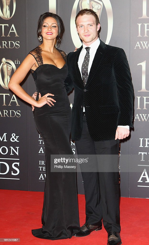 Michelle Keegan and Chris Fountain attend the Irish Film and Television Awards at the Convention Centre Dublin on February 9, 2013 in Dublin, Ireland.