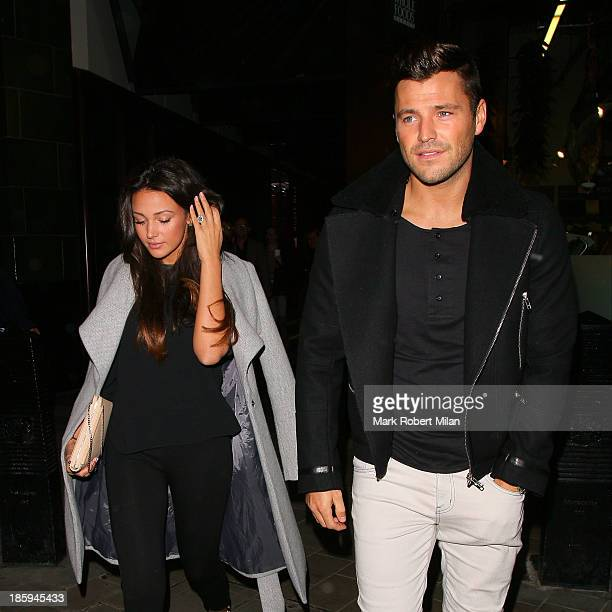 Michelle Keegan and Mark Wright arriving at the evening performance of Dirty Dancing at the Piccadilly Theatre on October 26 2013 in London England