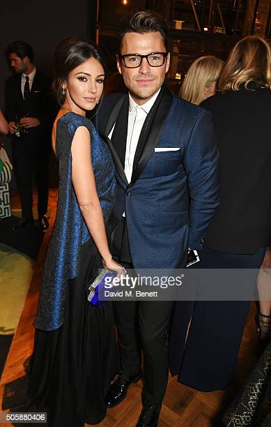 Michelle Keegan and Mark Wright attend the 21st National Television Awards at The O2 Arena on January 20 2016 in London England
